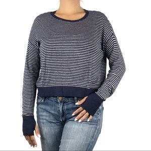 Eileen Fisher Blue Striped Knit Sweater Size 4P